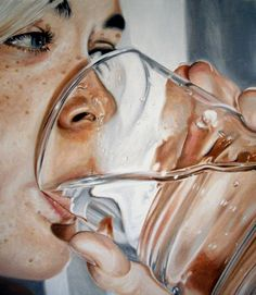 Beautiful and Hyper Realistic images by Sweden artist Linnea Strid, Linnea Strid did these paintings, its a part of a joint show of entitled A Quiet Place with Stephanie Buer for wonderfull. Portrait Art, Portrait Paintings, Art Paintings, Painting Trees, Portraits, Paintings Famous, Art And Illustration, Hyper Realistic Paintings, Creation Art