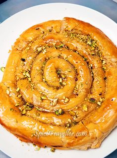 M'HANNCHA (Snake) – Moroccan dessert with almonds, yummy!!