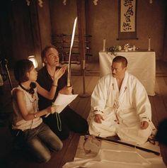 Quentin Tarantino and Sonny Chiba in Kill Bill: Vol. 1