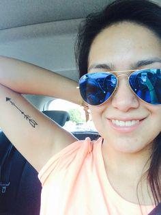 Arrow girly tattoo