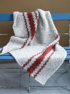 Lion Brand Wool-Ease Thick and Quick Cozy Nook #Throw #knit #MichaelsStores