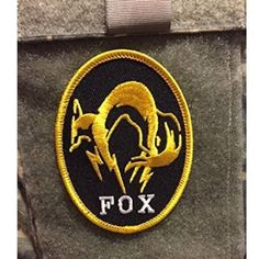 """Metal Gear Solid V FOX the Phantom Pain Patch - 3.5"""" x 2.5"""" - Comes with both side velcro backing Hook & Soft Side"""