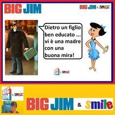 Big Jim & Smile: Mamme educatrici - Big Jim Big Jim, Smile, Baseball Cards, Movie Posters, Movies, Humor, Films, Film Poster, Cinema