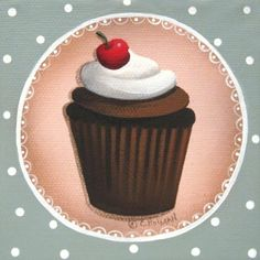 Chocolate Cherry Chip Cupcake (Catherine Holman)