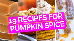 It's that time of year where life is ruled by pumpkin spice. It invades every recipe you can think of, and we love it. Here are 19 delicious ones to make.