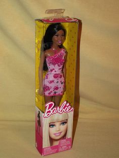 BARBIE DOLL GIRL NIKKI BLACK NEW 2010 PINK FLORAL DRESS NECKLACE SHOES SEALED #DollswithClothingAccessories