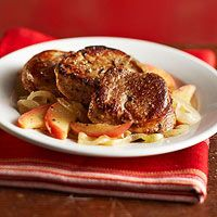 Pork Tenderloin with Apples and Onions... Going to try this in the crockpot!!