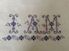 completed finished cross stitch  Inspirational saying