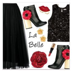 """La Belle"" by razone ❤ liked on Polyvore featuring Valentino, Hollister Co., Laurence Dacade, Judith Leiber, Ross-Simons, Thalia Sodi and Bobbi Brown Cosmetics"