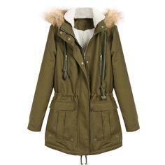 d889c7609d2 Sheinside fashion brand 2016 winter thick heavy women warm faux fur hooded  long sleeve zipper drawstring