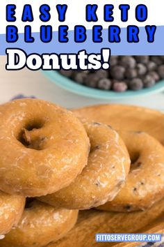 Healthy Diet Recipes, Ketogenic Recipes, Keto Snacks, Low Carb Recipes, Ketogenic Diet, Low Carb Donut, Low Carb Keto, Beignets, Blueberry Donuts
