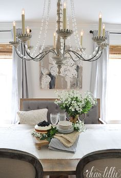 We love finding lots of things to accent our dining room with from Homegoods…