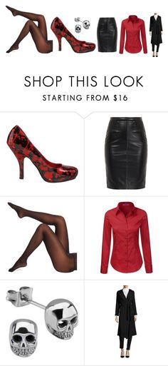 """Freaky Deaky"" by blueseptembersapphires ❤ liked on Polyvore featuring Funtasma, MuuBaa, Wolford, Pure Navy, business, scary, creepy, horror and gore"