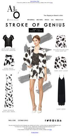 alice + olivia email design | Stroke of Genius #email #emaildesign #newsletter #emailnewsletter #graphicdesign #fashion