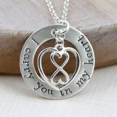 Miscarriage Memorial Necklace I Carry You In My by RememberMyAngel