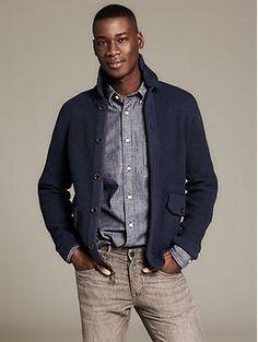 Heritage Textured Sweater Jacket | Banana Republic