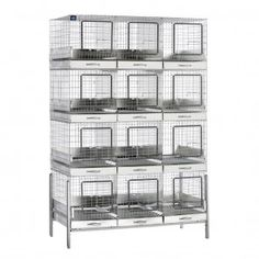 KW Cages, 12 hole Apartment cages. Each hole has its own tray!