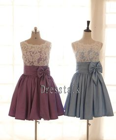 Lace Coral/Blue/Purple Taffeta Wedding Dress by dresstalk on Etsy, $119.00. Kym what about this?