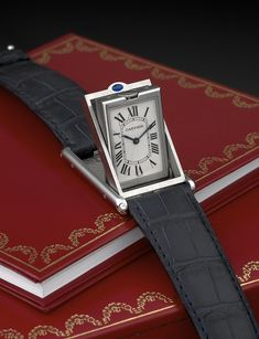 Cartier Tank Basculante Ref. 2390 2002 - Source by j_enke - Cartier Tank, Cartier Watches Women, Watches For Men, Rolex Watches, Vintage Rolex, Vintage Watches, Cartier Santos, Patek Philippe, Devon