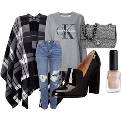 2 by pal0ma on Polyvore featuring polyvore, fashion, style, Calvin Klein Jeans, Lipsy, Topshop, Calvin Klein and Chanel