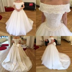 """38 Likes, 9 Comments - @aina_wedding on Instagram: """"ウェディングドレス決定😍❤️✨ . ウェディングドレスはこちらのオフショルのドレスに決定しました💕✨ .…"""""""