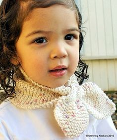 Knitworthy knitted Child Neckie / Scarf / Scarflette in Oatmeal N Berries #fall #autumn #knit #winter #necktie