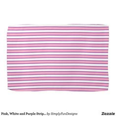 Pink, White and Purple Stripes Towel