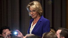 Liberal groups have sought to jam Republican phones lines with protests of Donald Trump's nomination of Betsy DeVos as Education secretary.