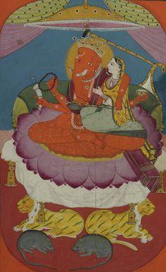 A rare complete illustrated and illuminated Ramayana manuscript, Jammu, Punjab Hills, India, circa 1820   lot   Sotheby's