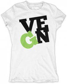 Evoke Apparel - I'm a Vegan Womens Graphic T-shirt, $27.00 (http://www.evokeapparelcompany.com/im-a-vegan-womens-graphic-t-shirt/)  I love the greens and I'm Proud to be a vegan. This womens graphic t-shirt is perfect for the passionate vegan.