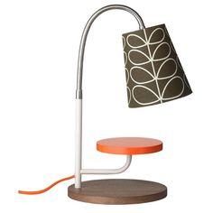 Orla Kiely Mini Task Lamp Linear Stem Bark from www.illustratedliving.co.uk