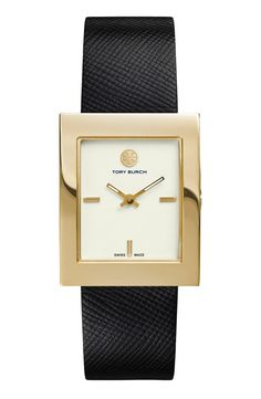 Tory Burch Leather Strap Watch