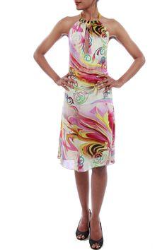 Printed Satin Dress by Babita Malkani