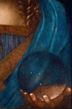 History Of Art Daily — Leonardo da Vinci, Salvator Mundi, detail, circa...