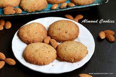 almond cookies - eggless cookies recipe