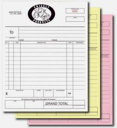 Best Custom Carbonless Forms Images On Pinterest Printing - Custom carbonless invoice forms