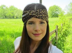 Leopard Cheetah Print Headband Animal Print Headband by ItsTwisted