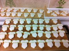 Decorated cookies for baby shower