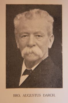 W Bro Augustus Darch, LGR, Worshipful Master in 1881 and Secretary for 31 years from 1884 until his death in 1915.