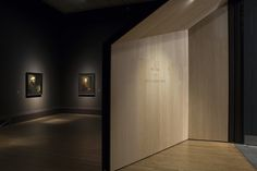 Urban Salon were exhibition designers for Rembrandt: The Late Works. The entrance tunnels are made from textured timber veneer which contrasts with the coloured walls of the gallery. The angled doorways frame dramatic vistas and enhance the key works of art for each room.