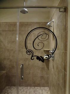 Monogram your shower door . . or anything! Pick your font & color ...