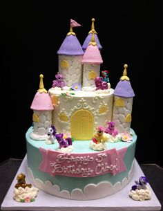 my little pony cakes | Two tier my little pony castle cake