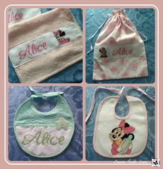 Baby set made by @crearepuntocroc *** Le Maddine & Maddy https://www.facebook.com/groups/531953423561246/ ***  #madeinfacebook #lemaddine #handmade #handcrafted #instagram #instapic #instagood #picoftheday #instacool #cool #cute #embroidery #sewing #crossstitch #bib #bag #towel #girl #newborn #baby #disney #minnie #minniemouse #crearepuntocroce