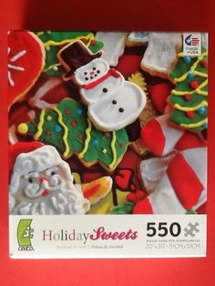 Brand New! Holiday Sweets Christmas Cookies 550 Piece Jigsaw Puzzle By Ceaco in Toys & Hobbies, Puzzles, Contemporary Puzzles | eBay