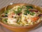 Shrimp scampi w linguini. Delicious!!