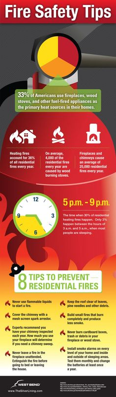Fire Prevention: Fire Safety Tips Infographic [ http://shop.coldfiresoutheast.com ] #prevention #fire #safety