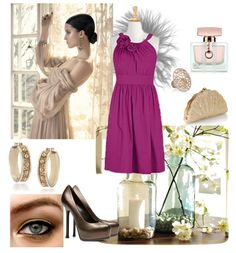 #fuchsia #orchid #dresses #rosette #halter