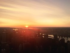 Sunrise from Empire State