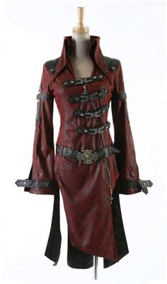 Hell-Fire Visual Kei Coat - Gothic, industrial, steam punk coats