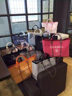 7d3fcc3c1d56 Chanel Toile Deauville Canvas Shopping Tote Bag 2015-2016 Collection Chanel  Shopping Tote, Chanel
